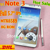 "Real photo 1:1 Note3 Note 3 Note iii N9000 phone 5.7"" 1280*720 IPS screen Android 4.3 MTK6589 Quad core 1.5Ghz 1g ram cell phone"