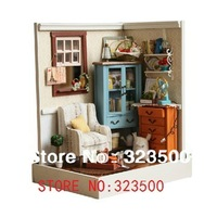 "Wooden Dollhouse DIY Handmade Assembling Miniature ""Lucky Town"" Model Building Kits"