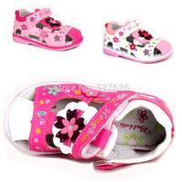 2014 In stock Summer 1pair white PU girl Children Sandals inner length 12.5-14.5cm,Super Quality Kids/Children Shoes