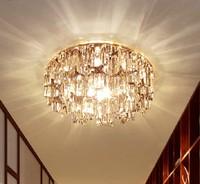 Morden 3W ceiling light LED spot lighting living room crystal lamp balcony lampshade light fixtures AC110V 220V 230V 240V abajur