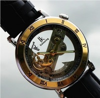 Brand IK colouring  hollow mechanical watch, fashion Casual waterproof dress watch,leather strap men sports watches