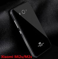 Aluminum Metal Tempered Glass Xiaomi Mi2S Case Battery Cover Xiaomi M2S Case For  Xiaomi M2 MI2  +Free Gifts