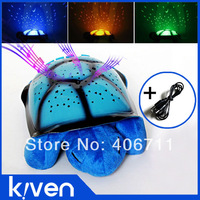2pcs Blue Turtle LED Night Light + USB Cable Music Lights Kid Sleep music toy beautiful comfortable lighting baby bedroom