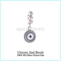 925 Sterling Silver Enamel Blue Oil Dangle Pendant Charm Beads Fits Pandora Style Bracelets Necklaces