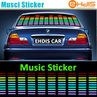 LED Sound Music Activated EL Car Stickers Equalizer Glow Flash Panel Multi Colour Light Flashing Music Rhythm Light Lamp