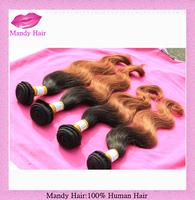 hot sale 1b#33 ombre hair weft, body wave virgin Brazilian human hair , wholesale popular hair products,3pcs/lot,100g/pcs
