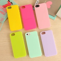 Free shipping 1pc Solid candy color TPU Soft Rubber cover case for Apple iphone 5 5s Drop shipping