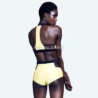 2014 New Women Swimsuit  Bikini Set, Bandeau Padded Bikinis Bathing Suit Strappy Brazilain biquini beaches free Swimwear