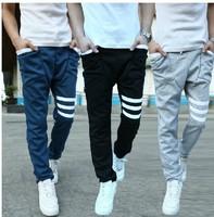 Free shipping korean style 2013 Autumn new men's slim casual trousers drop crotch pants mens hip hop harem sweatpants