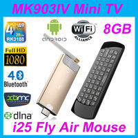 BoSuntop MK903 IV/GK525 Android4.2 RK3188 Quad Core 2G RAM 8G Nand Flash + Rii i25 fly mouse smart TV mini pc free Shipping !!!