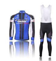 Hot! Cycling Jersey long Sleeve Cycling Wear + bib long Pants Set Cycling Clothing breathable quick dry S-3XL men