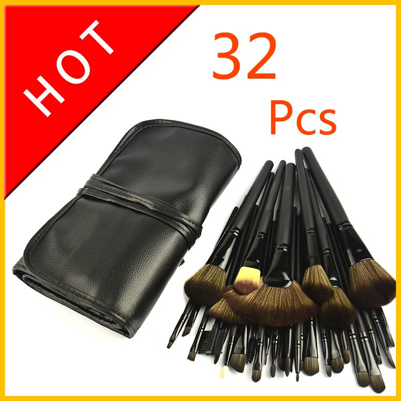 32Pcs 32 Pcs Cosmetic Facial Make up Brush Kit Makeup Brushes Tools Set,brand crystal goat hair makeup Brush professional(China (Mainland))