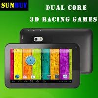 New 2013 Dual Core Tablet PCS laptops 7 inch Android 4.2 512MB 4GB/12GB/20GB 3G Dual Core GPU 3D Games HDMI WIFI Flashlight