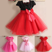 retail Elegant dress ,party baby girl princess clothing free shipping many colors 5684