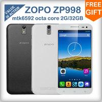 "ZOPO ZP998 C7 mtk6592 octa core mobile phone android 4.2  2G RAM 32G ROM 14mp camera 5.5""highscreen 1920X1080  3G/GPS/NFC/OTG"