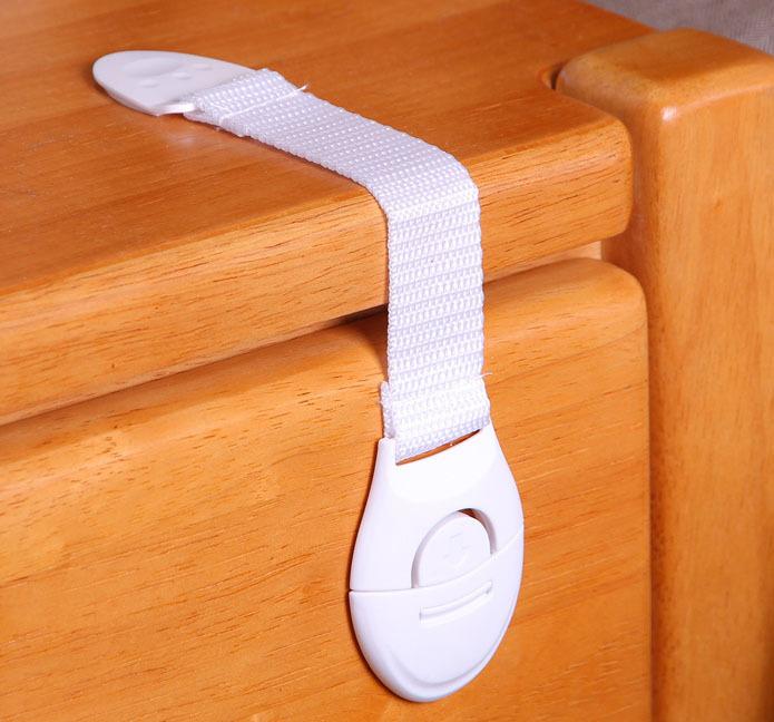 10pcs/lot Lengthened bendy Security Fridge Cabinet Door locks Drawer Toilet Safety Plastic Lock For Child Kids baby Safety Care(China (Mainland))