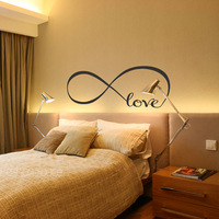 Personalized Infinity Symbol Bedroom Vinyl Wallpaper DIY Wall Decals Love Quotes Painting Wall Art Bedroom Decor Wall Stickers