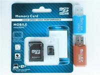 Wholesale memory card Micro SD card 32gb 64GB class 10 micro sd 8GB 16GB Flash TF CARD +SD transfer adapter+card reader