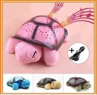 Hot selling+Turtle LED Night Light +  Music Light Mini Projector  The tortoise music Lamp Xmas Gift Baby Girl Children Toys
