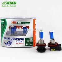 New XENCN H8 12V 35W 5300K Emark Blue Diamond Light Replace Upgrade OEM Car Bulbs Super White Halogen Fog Lamp Free Shipping