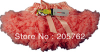 Fashion baby girls peach soft tulle tutu pettiskirt extra fluffy Kids party dancewear tutu 2-9 Ys