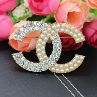 Free Shipping garment Jewelry rhinestone Crystal Brooch Pins DIY Accessories decorations wholesale OEM P2129