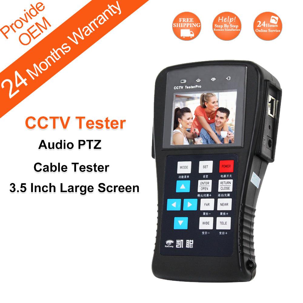 CCTV Tester Multifunctional Monitoring for Projects Digital PTZ Controller LAN Cable CCTV Camera Tester KaiCong K625P(China (Mainland))
