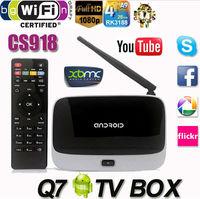 MK888 (CS918/Q7) Android 4.2 TV Box RK3188 Quad Core Remote Controller Mini PC RJ-45 USB WiFi XBMC Smart TV Media Player