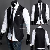 Fashion Male Slim Vest Male Tank Tops Vest Undershirt For Men Casual Skinny Vest Waistcoat 16178