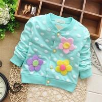 Free shipping 2015 Spring hot-selling baby girls cardigan jacket,children's sweater outwear,children cardigan#Z057