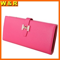 Fashion trendy buckle woman wallets designer zipper diamond women purses with 13 card slots P3636-5
