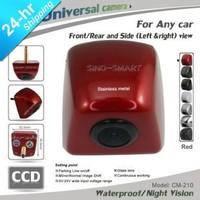 Free shipping universal SUV truck Car HD CCD  parking camera side view reversing camera red camera night vision waterproof