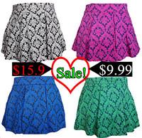 2014 Spring / Autumn Woman Skirt Fashion Princess Retro Print High Waist Skirt bust tutu Ladies Skirts