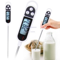 New Arrival BBQ Thermometer Kitchen Cooking Food Meat Probe Digital Lcd Display For Drink Milk Coffee etc B16 19373