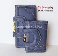 Hot Selling Long Wallet Women Genuine Leather New Fashion 15 Colors Cowhide Leather Lady Purse,U Design Women Wallet 3311014