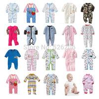 New 2014 Spring baby bodysuits baby sleeping kids pajama sets baby boys girls clothing 0-24M 6 styles free shipping