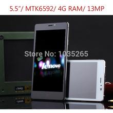Original Lenovo S90 0 5.5inch 1920*1080px IPS Android4.4 Phone MTK6592 Octa Core 4G ram 16G rom 13MP Dual SIM Smartphone unlock(China (Mainland))