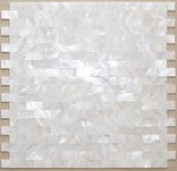 Interlock 5SF subway brick mother of pearl tile kitchen backsplash shell decor tiles fireplace bathroom shower wall tub bar tile