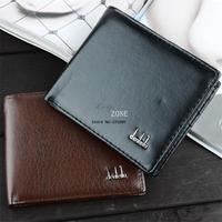 High Quality Men's Fashion Vintage PU Leather Short Men Wallets Male Wallets Man Leather Purse 2 Colors SV000195 B002