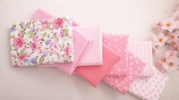 Cotton Farbic No Repeat Design  Pink Serier Patchwork Fabric Fat Quater Bundle Sewing For Fabric 8pieces/lot 40cm*50cm A2-8-1