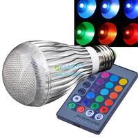 Hot Sale AC85-265V 9W RGB led lighting Colorful LED Bulb Lamp Spot light with Remote Control Dropshipping 2653 B003