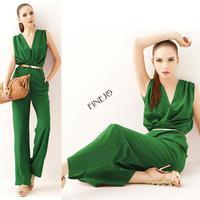 2014 New Fashion Women's Casual Ladies Jumpsuit V-neck Sleeveless OL Elegant Jumpsuit 2 colors #7 SV001664