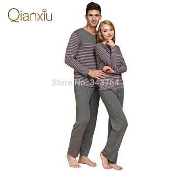 2014 новый модальные и хлопок женщин и мужчин пижамы классические пижамы полоса отдыха ...