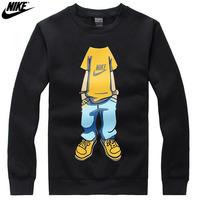 NIKE 2014 Fashion Men Long sleeve Hoodies Sweatshirts Casual Pullover Streetwear tops Sports Clothes Free Shipping!