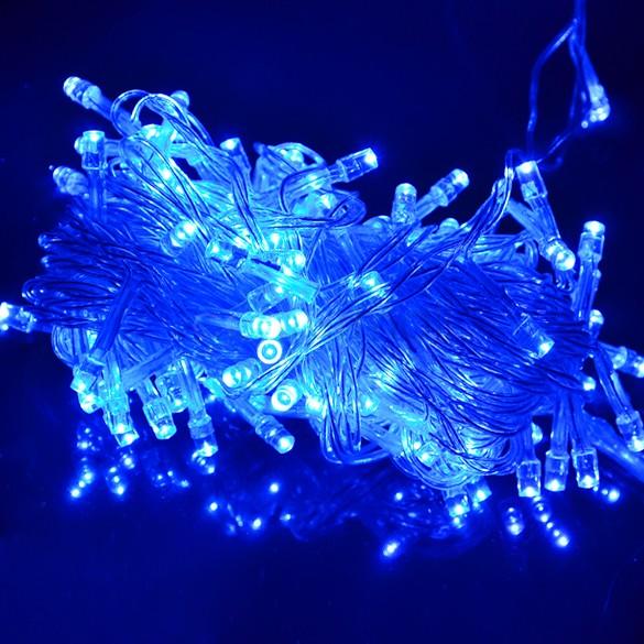 Holiday Outdoor 100 LED String Lights 10M 220V 110V Christmas Xmas Wedding Party Decorations Garland Lighting SV16 CB003726(China (Mainland))
