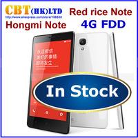 4G FDD LTE Original Xiaomi Redmi Red Rice Note 5.5 inch Qualcomm Quad Core Android Phone 2GB RAM 8G ROM Xiaomi Hongmi note Stock