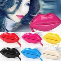 New women handbag fashion Lip Style Handbags Purse brief pattern shoulder bags women leather handbags leather bags B16 SV003664
