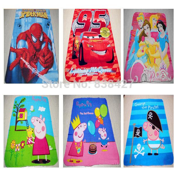 "Envío gratis 3d congelados de dibujos animados de moda princesa impreso para"" 125x 160"" manta suave fresco refrescante mantas cómodo"