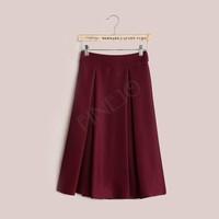3pcs/lot New Arrival Vintage Retro Womens High Waist Elastic Mid Skirt Flared Pleated Skirt B11 SV004983
