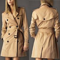 Desigual Coat Abrigos Mujer 2014 New Brand Fashion Women Trench Coat Plus Size Poncho Casacos Femininos Overcoat Manteau F001
